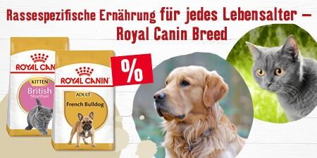 Natürliche rassespezifische Ernährung von Royal Canin für Hunde und Katzen