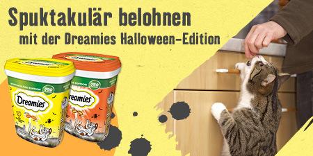 Spuktakulär belohnen mit der Dreamies Halloween-Edition