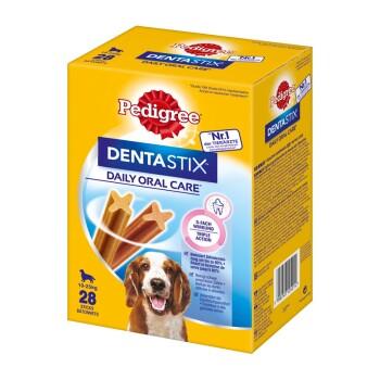 Wielopak Pielęgnacja zębów Dentastix 28 sztuk dla średnich psów