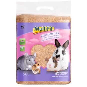 Lettiera per piccoli animali in confezione compressa 56litri