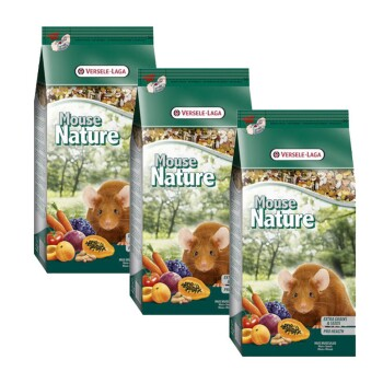 Versele Laga Mouse Nature Sparpaket 3x400g