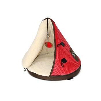 Tramps Katzenbett Teepee Rot