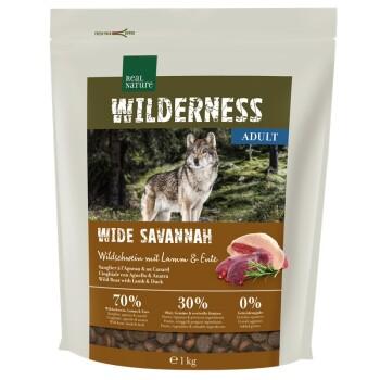 WILDERNESS Wide Savannah Wildschwein mit Lamm & Ente 1 Kg