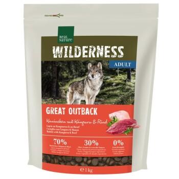 WILDERNESS Great Outback Kaninchen, Känguru & Rind 1kg