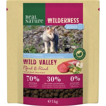 WILDERNESS Junior Wild Valley Cavallo e Manzo 1 kg
