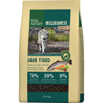 WILDERNESS Dark Fjord Rentier, Lachs & Ente 4kg