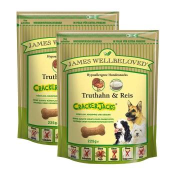 James Wellbeloved Cracker Jacks 2 x 225 g Truthahn & Reis