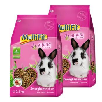 für Zwergkaninchen mit Alfalfa 2x2,5kg