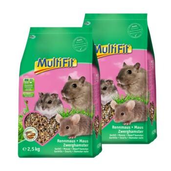 Pokarm dla gryzoni dla myszy, myszoskoczków i chomiczników 2 x 2,5 kg