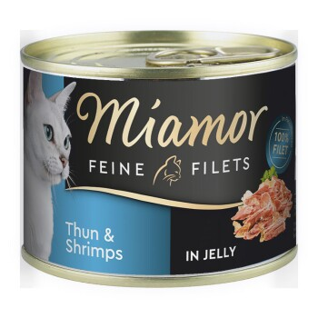 Feine Filets in Jelly 12x185g Thunfisch & Shrimps