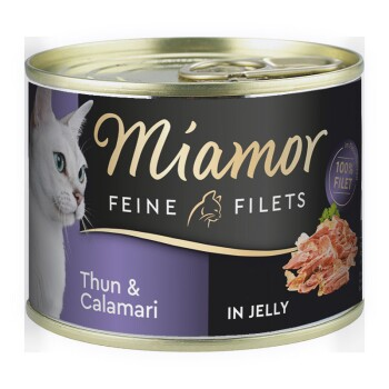 Feine Filets in Jelly 12x185g Thunfisch & Calamari