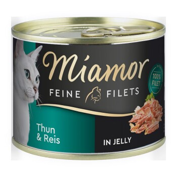 Feine Filets in Jelly 12x185g Thunfisch & Reis