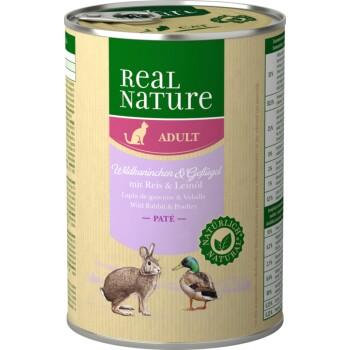 Adulte 6x400g Lapin de garenne et volailles au riz et à l'huile de lin