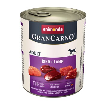 Assortiment GranCarno Original Adulte 6x800g Bœuf et agneau