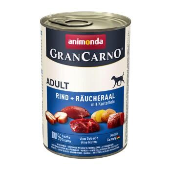 GranCarno Original Adult 6x400g Rind & Räucheraal mit Kartoffeln