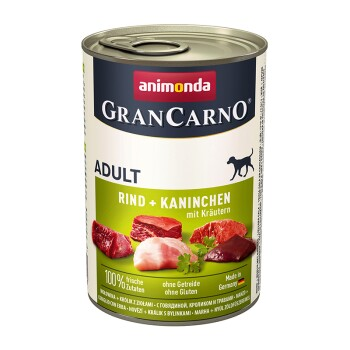 GranCarno Original Adult 6x400g Rind & Kaninchen mit Kräuter