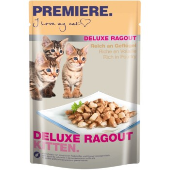 Deluxe Ragout Kitten 22x85g Reich an Geflügel