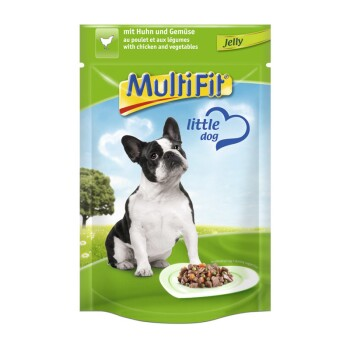 Adult Little Dog Pouch Jelly 24x100g Huhn & Gemüse