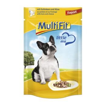 Adult Little Dog Pouch Ragout 24x100g Schinken & Käse