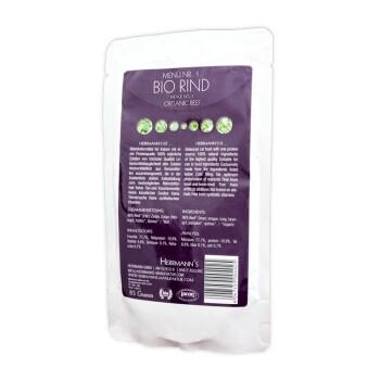 Biofutter für sensible Katzen 22 x 85g Bio Rind mit Quinoa und Kürbis