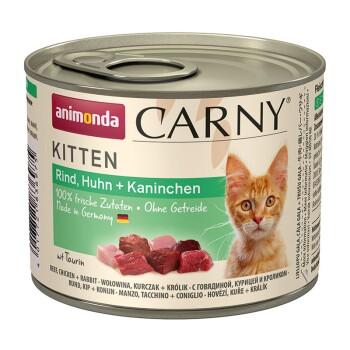 CARNY Kitten 6x200g Bœuf, poulet et lapin