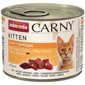 CARNY Kitten 6x200g Bœuf et volaille