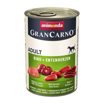 GranCarno Original Adult 6x400g Rind & Entenherzen