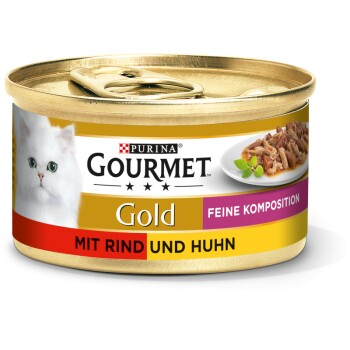 Gold Feine Komposition 12x85g Rind & Huhn