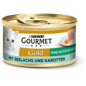 Gold Feine Pastete 12x85g Seelachs & Karotten