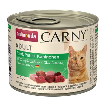 CARNY Adult 6x200g Rind, Pute & Kaninchen