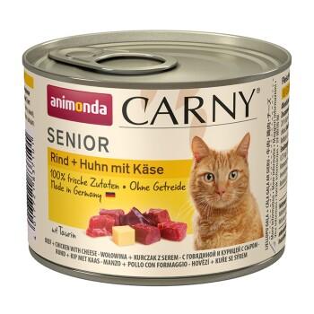 CARNY Senior 6x200g Rind, Huhn & Käse