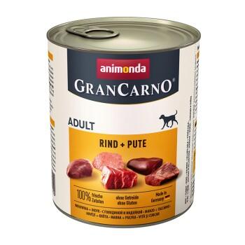 GranCarno Original Adult 6x800g Manzo e tacchino