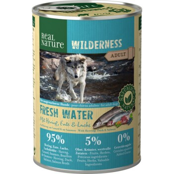WILDERNESS Adult 6x400g Fresh Water Hering, Lachs & Ente