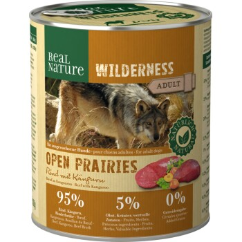 WILDERNESS Adult 6x800g Open Prairies Rind mit Känguru