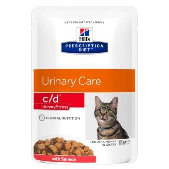 Prescription Diet c/d Urinary Stress Feline 12x85g Lachs