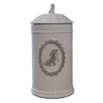 Futterdose Keramik weiß