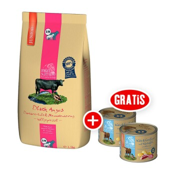 real nature Junior S/M 1,5kg + gratis 2x200g Nassfutter