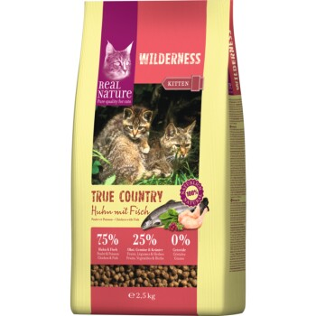 Wilderness Kitten True Country Kurczak z rybą 2,5 kg