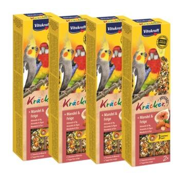 Kräcker dla dużych papug 4x2szt. Migdałowo-figowy