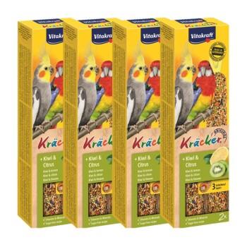 Kräcker dla dużych papug 4x2szt. Z kiwi i cytrusami