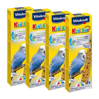 Kräcker Wellensittich 4x2er Feather-Care