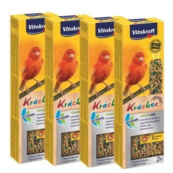 Kanarienvogel Kräcker 4x2er Feather-Care