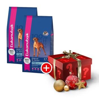 Mature und Senior große Rassen Sparpaket 2x15kg + gratis Weihnachtsüberraschung