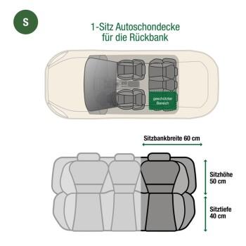 Autoschondecke Rückbank 1-Sitz Schwarz S