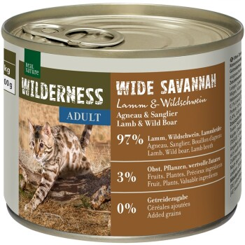 WILDERNESS Adult 6x185g/200g Wide Savannah Jagnięcina i dzik