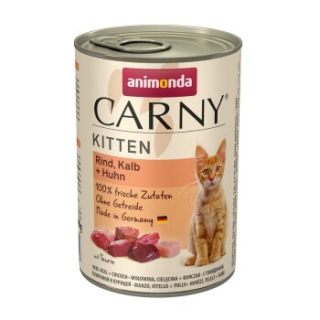 CARNY Kitten 6x400g Rind, Kalb & Huhn