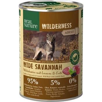 WILDERNESS Adult 6x400 g Wide Savannah Cinghiale con Agnello e Anatra