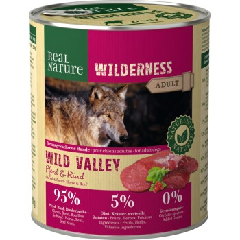 WILDERNESS Adult 6x800g Wild Valley Pferd & Rind