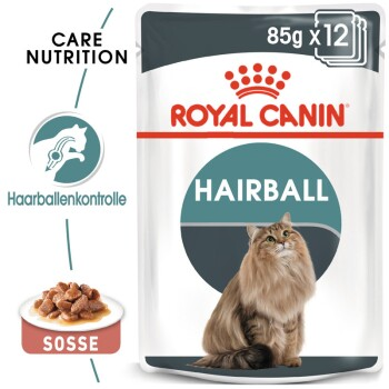 Hairball Care 12x85g in Soße