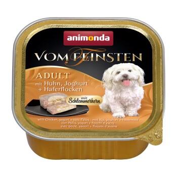 Vom Feinsten Adult 22x150g Huhn, Joghurt & Haferflocken mit Schlemmerkern